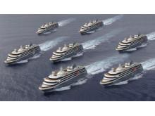 Mystic Cruises' fleet  of seven adventure cruise vessels