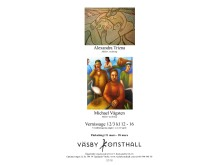 Alexandra Trizna och Michael Vågsten - måleri och teckning i Väsby Konsthall, Vernissage 12/3