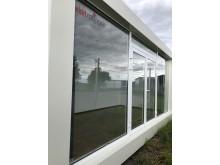 Framsidan av Visit Roslagens glasmodul