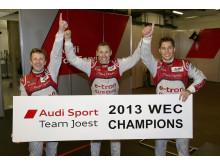 Allan McNish (GB), Tom Kristensen (DK), Loïc Duval (F), 2013 FIA WEC Champions