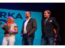 Guldjubelgalan 2018. Pia Hallkvist, Christian Andersson, Oscar Wilhelmsson