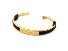 Sister Power, armband i guldpläterat silver