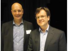 Hans-Erik Karlsson, Styrelseordförande Mindfulnessgruppen och Med Dr Walter Osika, KI och Stressforskningsinstitutet