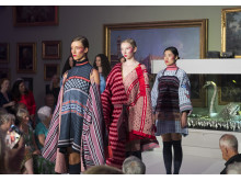 Work by Northumbria University Fashion BA (Hons) graduates on display at Bowes Museum