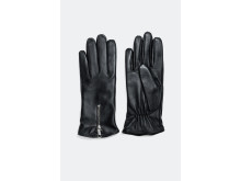 Leather gloves with zipper detail