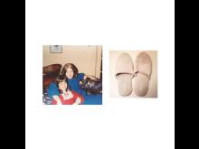 Jennifer Loeber, Slippers, 2014, 22x22cm