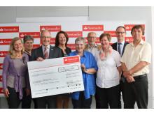 Spendenübergabe Santander Woche