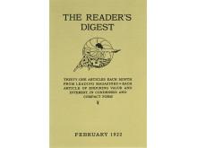 Titelblatt der allerersten Ausgabe von Reader's Digest, Februar 1922