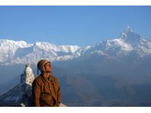 Enastående vyer över Himalaya