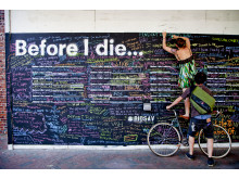 """Before I die..."" i Savannah, USA. Foto: Trevor Coe."