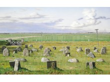 """Allan Otte: """"Kødet blev jord"""", 2010. Signeret. Akryl på MDF-plade. 100 x 162 cm. Vurdering: 100.000-125.000 kr."""