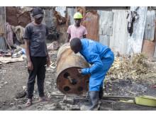 Drum for briquett making