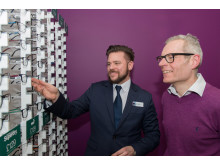 Local Olympic legend joins Vision Express to officially open its new optical store at Tesco in Mansfield