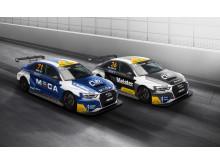 Brink Motorsport satsat med två Audi RS3 LMS i STCC 2017. Foto: Brink Motorsport.