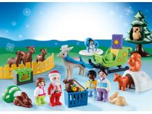 """Ganz groß für die Kleinsten: Der PLAYMOBIL 1.2.3-Adventskalender """"Waldweihnacht der Tiere"""" (9391)"""