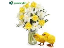 Skicka blommor och skänk kycklingar