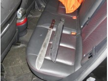 Knife in back of Nissan