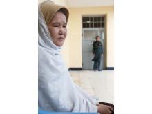 Sakina, 29, intern på Herats kvinnofängelse