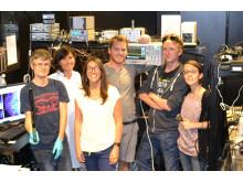 Några från forskargruppen vid avdelningen för bildfysik på KTH. I mitten: Ilaria Testa och Andreas Bodén.