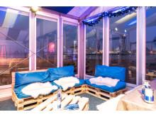 beheizte Pagoden für Firmenfeiern mit direktem Blick auf den Hafen