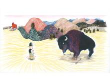 Kitty Crowther - Originalillustrationer från Farwest