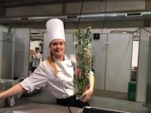 Caterelev fra Kokkenes Køkken Nicole Højbjerg Pedersen er klar til finalen i DM i Skills 2016