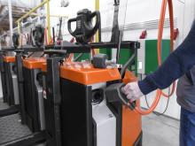 Laddning av BT Optio med li-jon-batterier