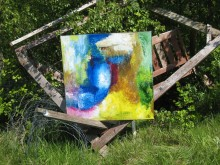 Karlsvognen bringer ofte kunsten ud i naturen.