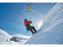 Snowkiting in Brig Simplon