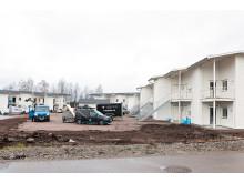 Nya lägenheter i Spåningslanda under uppförande av Lektum Fastigheter