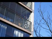 Cykelhängare på balkongerna