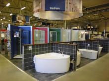 Hemutrustning/badrumsutställning hos K-rauta
