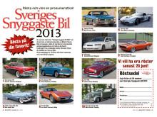 """Finalister """"Sveriges Snyggaste Bil 2013""""."""