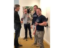 Team VATTN intervjuade av TV4 Nyheterna, team medlemmarna Daniel Andersson och Philip Eriksson