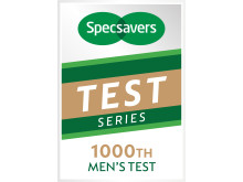 Specsavers 1000th Men's Test logo