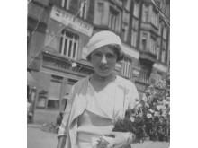 Emmy aged 34 (wearing a hat)