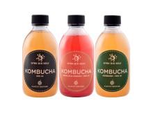 De tre varianter af kombucha