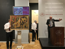 Jesper Bruun Rasmussen sælger Asger Jorns maleri for 1,95 mio. kr.