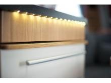 LED-belysning under köksbänk