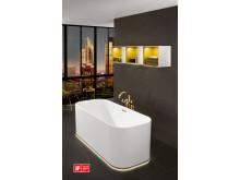 Sparkling bathroom in an elegant metallic look