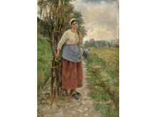 Sigrid Bølling «Fatigué. Bondekone fra Normandie», 1888