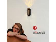 Sänglampa vinner reddot award 2016. Bild 2