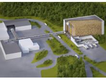 3D layout af Dafgårds kommende dybfrostlager i Källby, Sverige