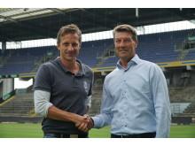 Troels Bech, Sportsdirektør Brøndby IF og Jørn Jacobsen,  Administrerende Direktør  SAP  Danmark