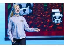 Agnes Larsson, en av grundarna av spelet Minecraft.