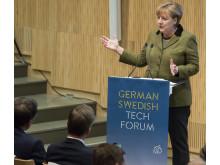 Angela Merkel beim German Swedish Tech Forum