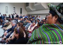 Anhöriga under domstolsförhandlingar mot Guatemalas ex-diktator Efraín Rios Montt