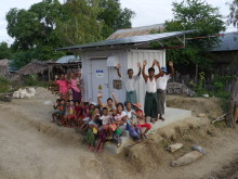 Power supply station and the villagers.JPG