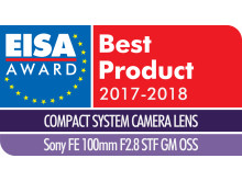 EISA Award Logo Sony 100mm F2.9 STF GM OSS