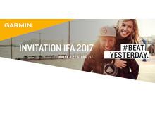 Einladung Garmin IFA 2017